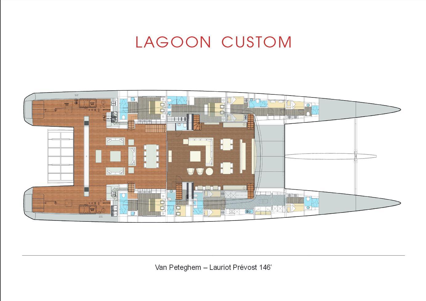 Zakázkový katamaran Lagoon VPLP 146
